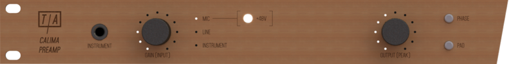 Analog side of the Calima Preamp