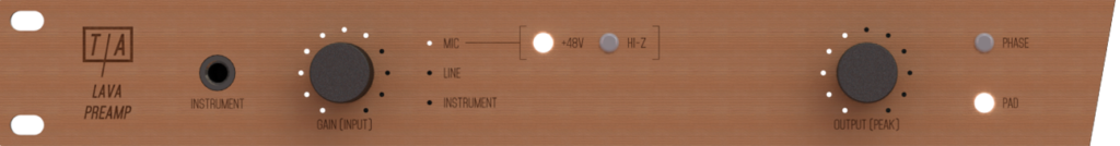 Analog side of the Lava Preamp