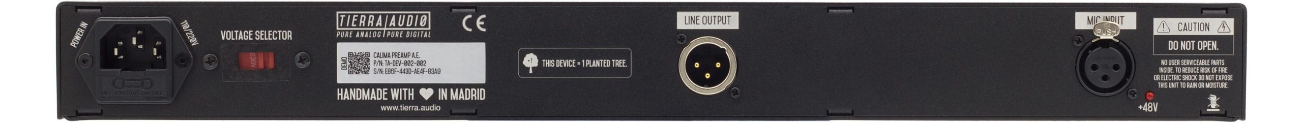 Calima Preamp Back Panel